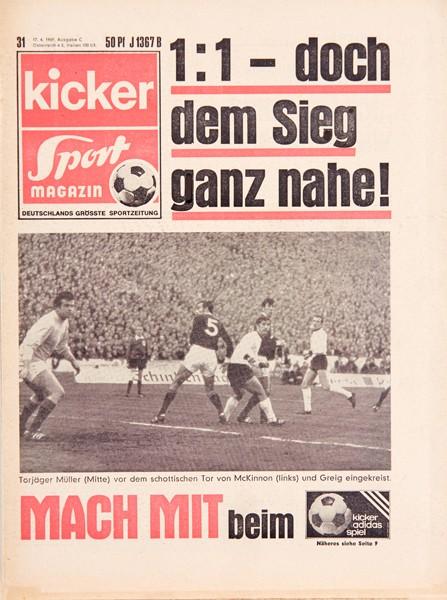 Kicker Sportmagazin Nr. 31, 17.4.1969 bis 23.4.1969