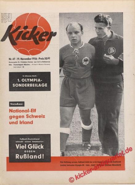Kicker Nr. 47, 19.11.1956 bis 25.11.1956