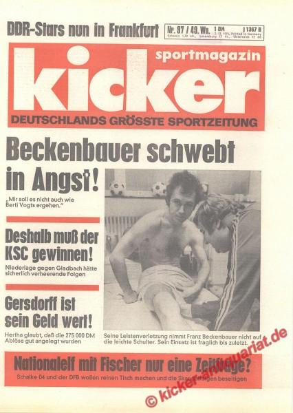 Kicker Sportmagazin Nr. 97, 2.12.1976 bis 8.12.1976