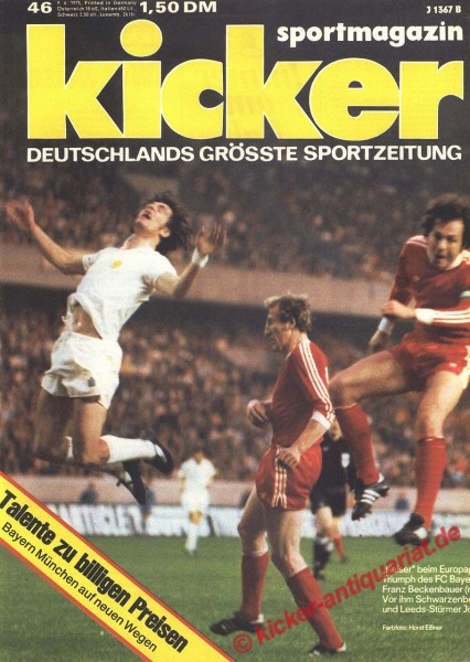 Kicker Sportmagazin Nr. 46, 9.6.1975 bis 15.6.1975