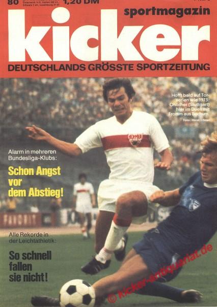 Kicker Sportmagazin Nr. 80, 30.9.1974 bis 6.10.1974