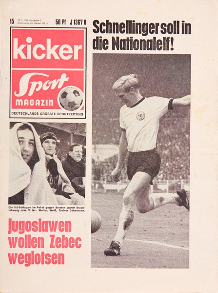Kicker Sportmagazin Nr. 15, 20.2.1969 bis 26.2.1969