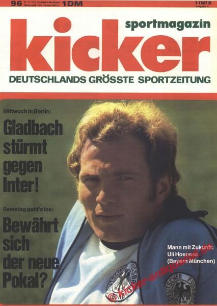 Kicker Sportmagazin Nr. 96, 29.11.1971 bis 5.12.1971