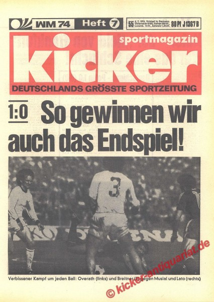 Kicker Sportmagazin Nr. 55, 4.7.1974 bis 10.7.1974