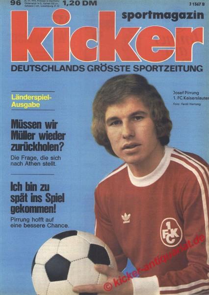 Kicker Sportmagazin Nr. 96, 25.11.1974 bis 1.12.1974