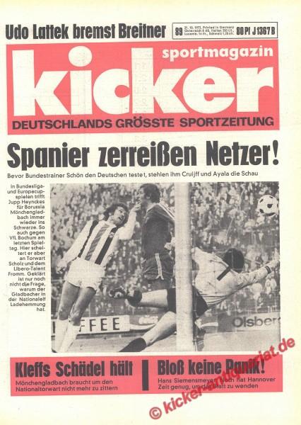 Kicker Sportmagazin Nr. 89, 31.10.1973 bis 6.11.1973