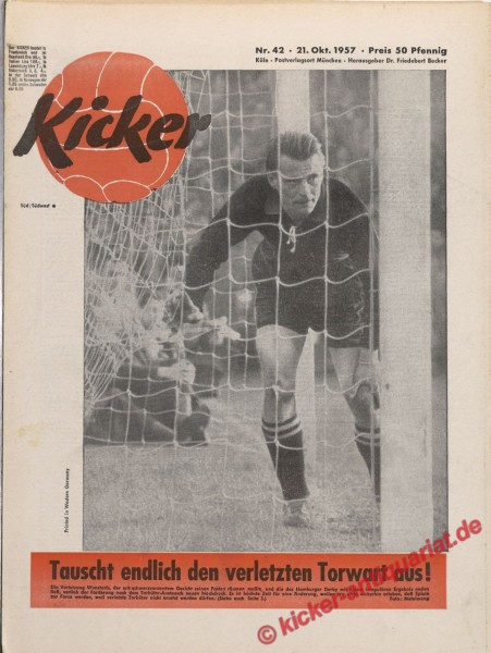Kicker Nr. 42, 21.10.1957 bis 27.10.1957