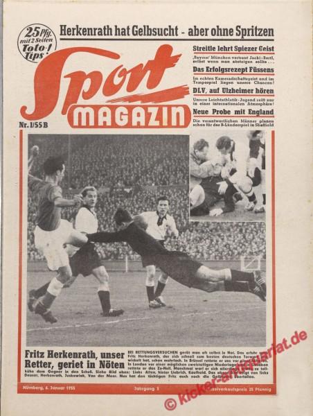 Sportmagazin Nr. 1B, 6.1.1955 bis 12.1.1955