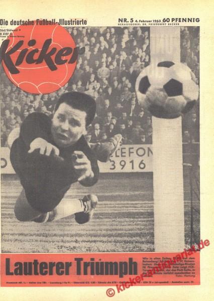 Kicker Nr. 5, 4.2.1963 bis 10.2.1963