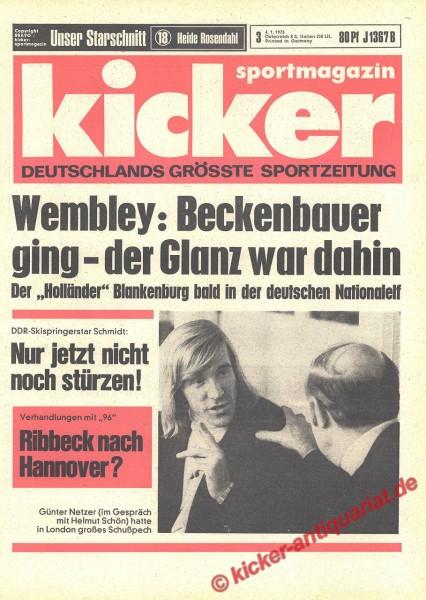 Kicker Sportmagazin Nr. 3, 4.1.1973 bis 10.1.1973