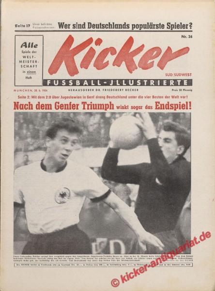 Kicker Nr. 26, 29.6.1954 bis 5.7.1954