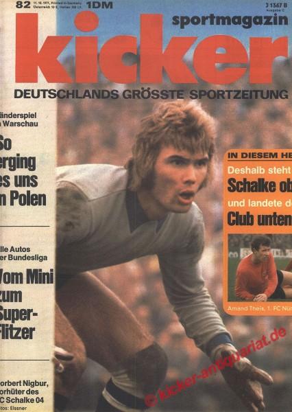 Kicker Sportmagazin Nr. 82, 11.10.1971 bis 17.10.1971