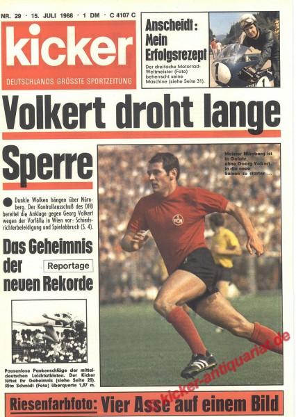 Kicker Sportmagazin Nr. 29, 15.7.1968 bis 21.7.1968