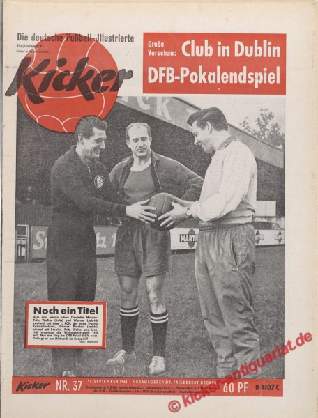 Kicker Nr. 37, 11.9.1961 bis 17.9.1961