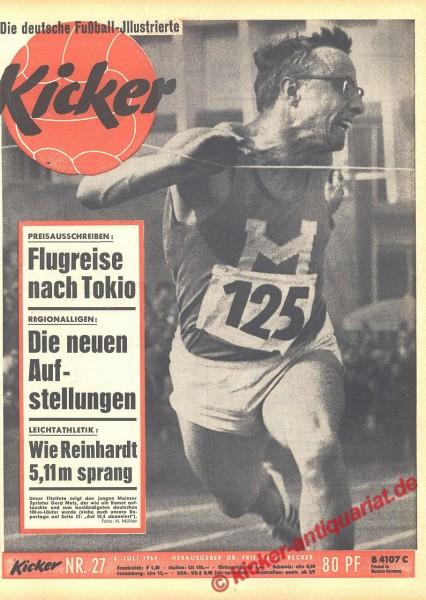 Kicker Nr. 27, 6.7.1964 bis 12.7.1964