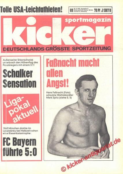 Kicker Sportmagazin Nr. 69, 24.8.1972 bis 30.8.1972