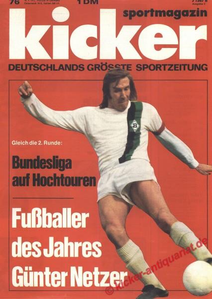 Kicker Sportmagazin Nr. 76, 18.9.1972 bis 24.9.1972