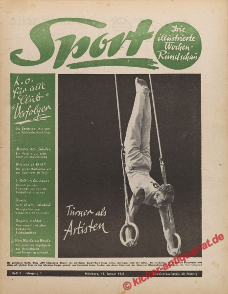 Sportmagazin Nr. 2, 15.1.1947 bis 21.1.1947