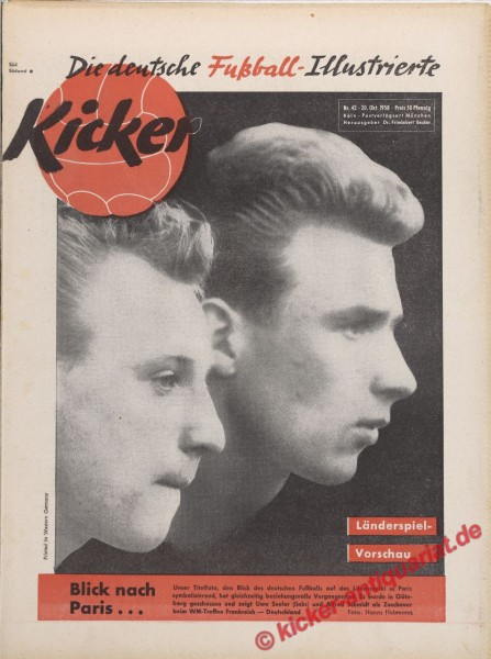 Kicker Nr. 42, 20.10.1958 bis 26.10.1958