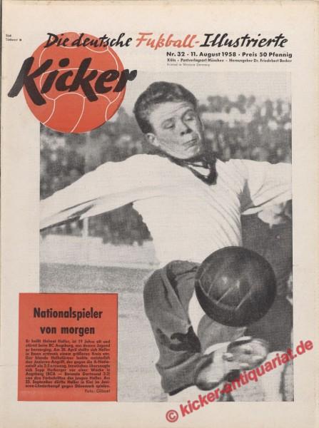 Kicker Nr. 32, 11.8.1958 bis 17.8.1958