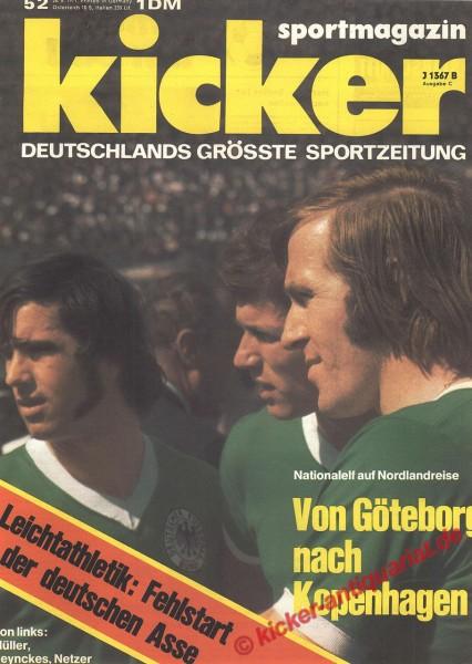 Kicker Sportmagazin Nr. 52, 28.6.1971 bis 4.7.1971