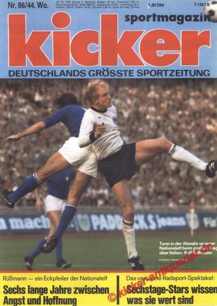 Kicker Sportmagazin Nr. 86, 24.10.1977 bis 30.10.1977