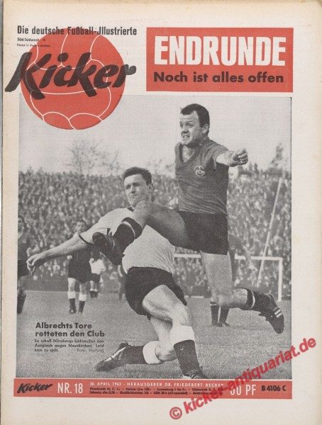 Kicker Nr. 18, 30.4.1962 bis 6.5.1962