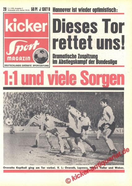 Kicker Sportmagazin Nr. 29, 9.4.1970 bis 15.4.1970