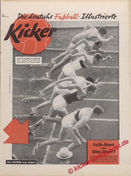 Kicker Nr. 34, 25.8.1958 bis 31.8.1958