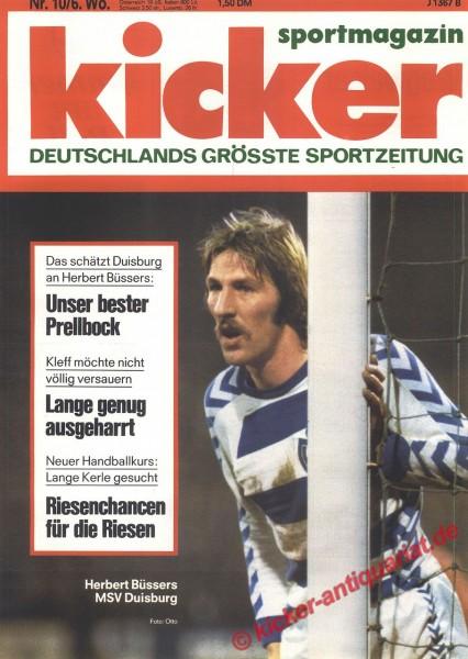 Kicker Sportmagazin Nr. 10, 31.1.1977 bis 6.2.1977