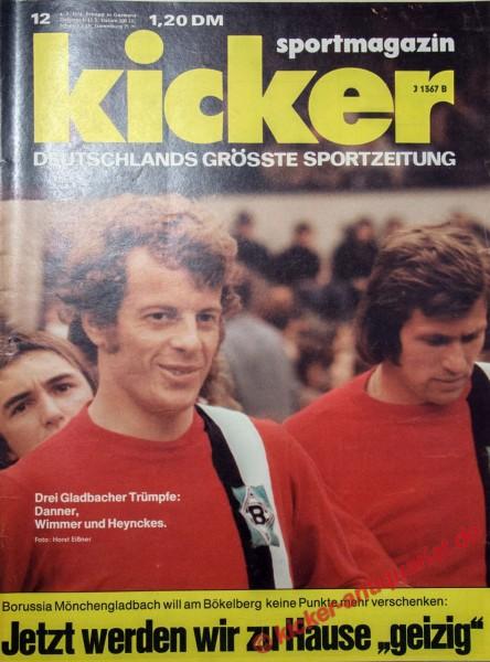 Kicker Sportmagazin Nr. 12, 4.2.1974 bis 10.2.1974