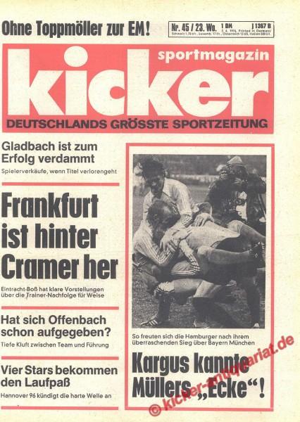 Kicker Sportmagazin Nr. 45, 3.6.1976 bis 9.6.1976