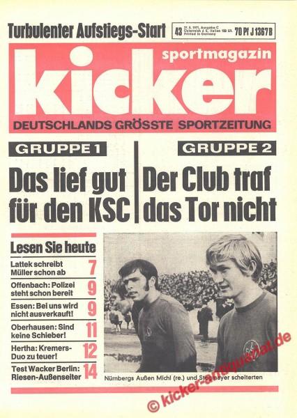 Kicker Sportmagazin Nr. 43, 27.5.1971 bis 2.6.1971