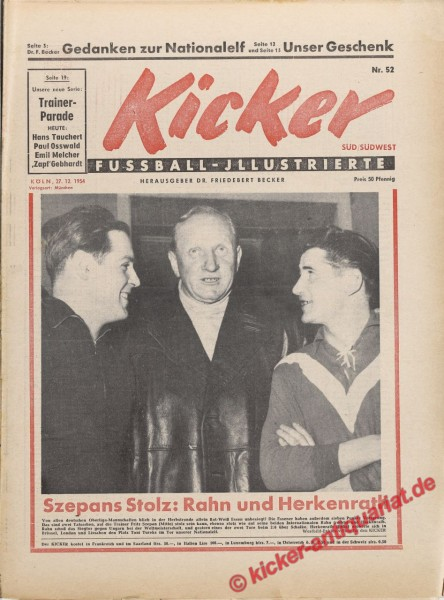 Kicker Nr. 52, 27.12.1954 bis 2.1.1955