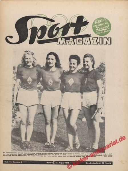Sportmagazin Nr. 33, 18.8.1948 bis 24.8.1948