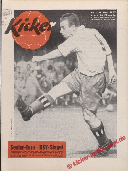 Kicker Nr. 7, 18.2.1957 bis 24.2.1957