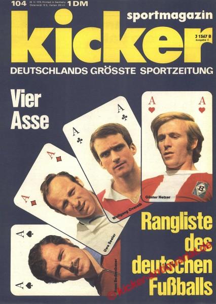Kicker Sportmagazin Nr. 104, 28.12.1970 bis 3.1.1971