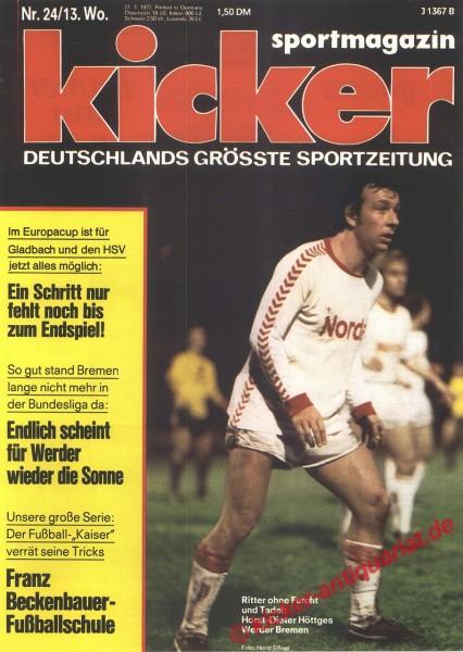 Kicker Sportmagazin Nr. 24, 21.3.1977 bis 27.3.1977