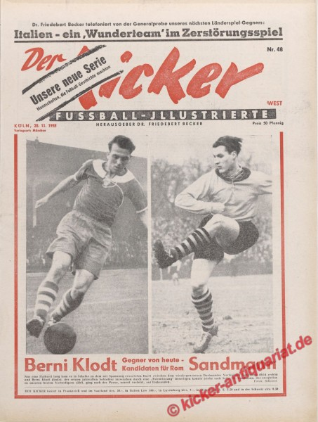 Kicker Nr. 48, 28.11.1955 bis 4.12.1955
