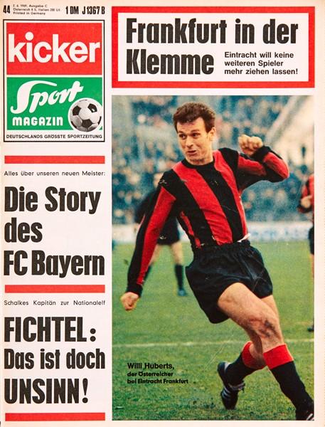 Kicker Sportmagazin Nr. 44, 2.6.1969 bis 8.6.1969