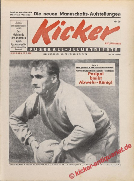 Kicker Nr. 29, 19.7.1954 bis 25.7.1954