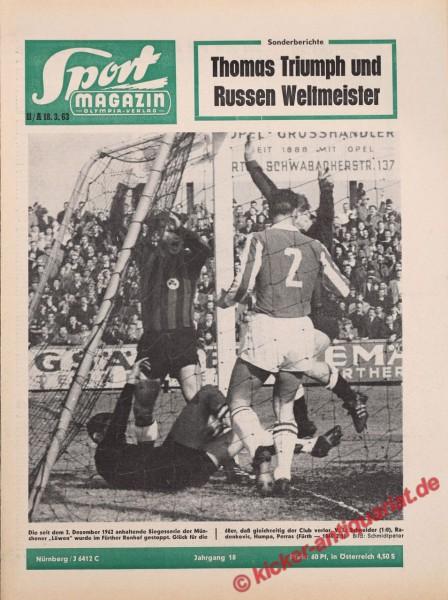Sportmagazin Nr. 11A, 18.3.1963 bis 24.3.1963