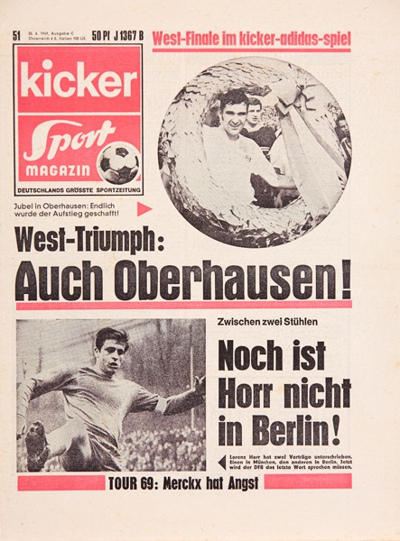 Kicker Sportmagazin Nr. 51, 26.6.1969 bis 2.7.1969