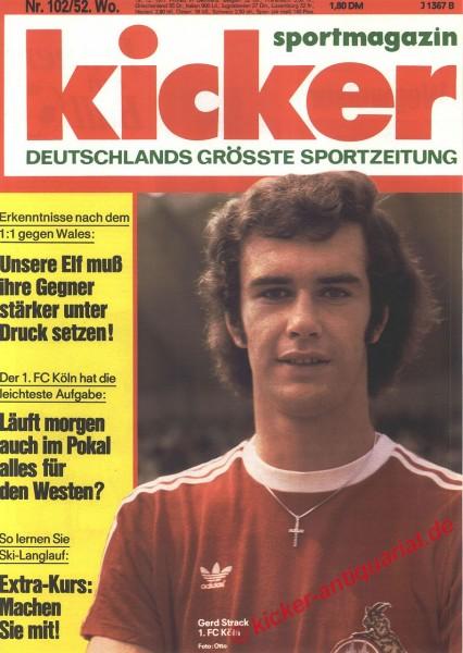 Kicker Sportmagazin Nr. 102, 19.12.1977 bis 25.12.1977