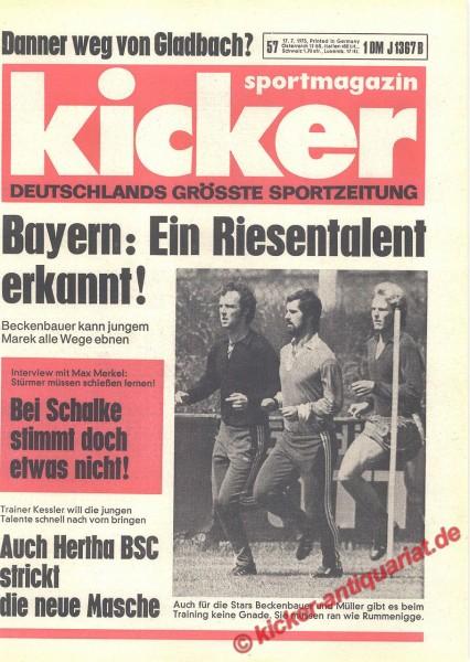 Kicker Sportmagazin Nr. 57, 17.7.1975 bis 23.7.1975