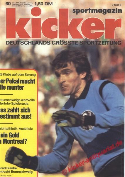 Kicker Sportmagazin Nr. 60, 28.7.1975 bis 3.8.1975
