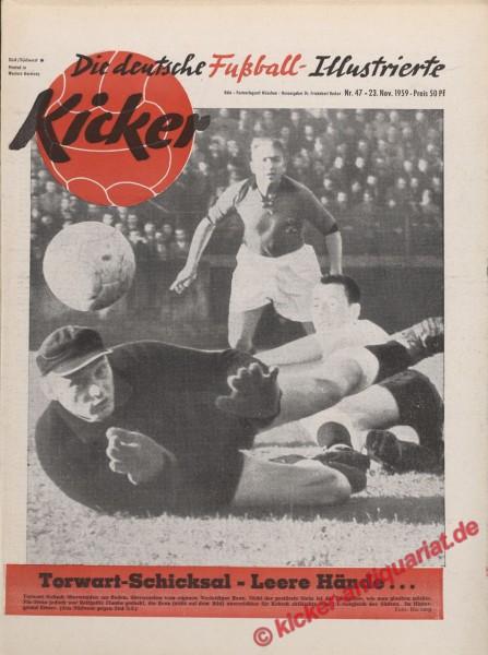 Kicker Nr. 47, 23.11.1959 bis 29.11.1959