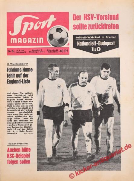 Sportmagazin Nr. 16B, 21.4.1966 bis 27.4.1966