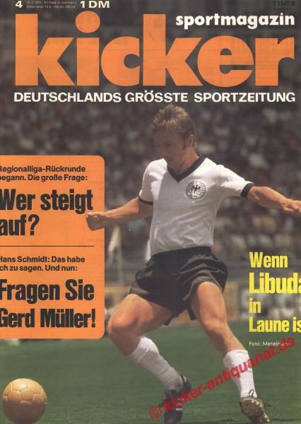 Kicker Sportmagazin Nr. 4, 10.1.1972 bis 16.1.1972