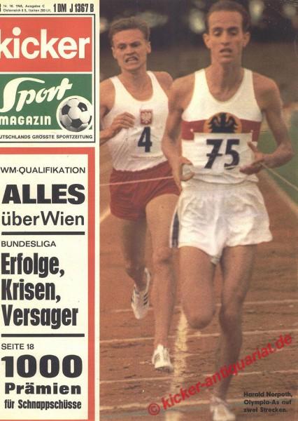 Kicker Sportmagazin Nr. 83, 14.10.1968 bis 20.10.1968